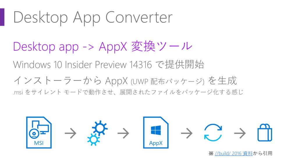 Desktop App Converter Desktop app -> AppX 変換ツール...