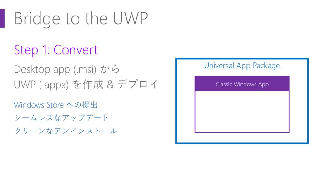 Bridge to the UWP Step 1: Convert Desktop app (...