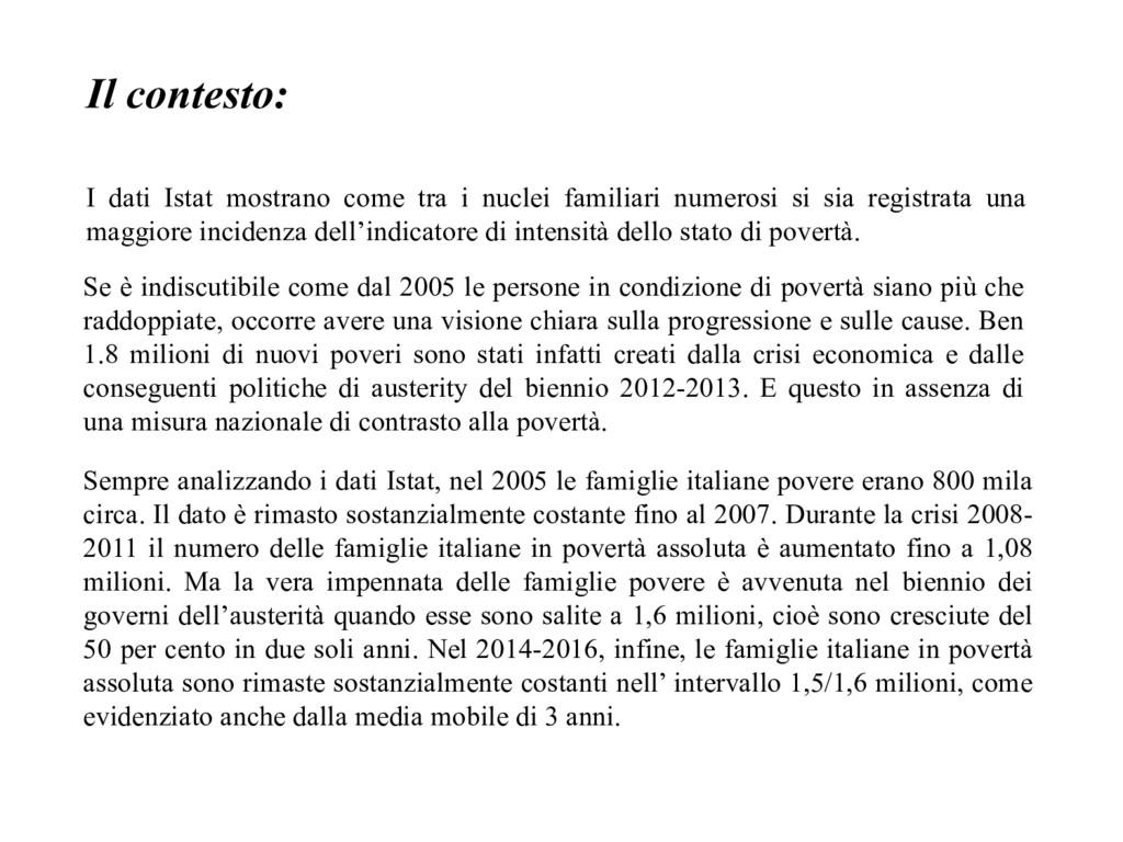 Il contesto: I dati Istat mostrano come tra i n...