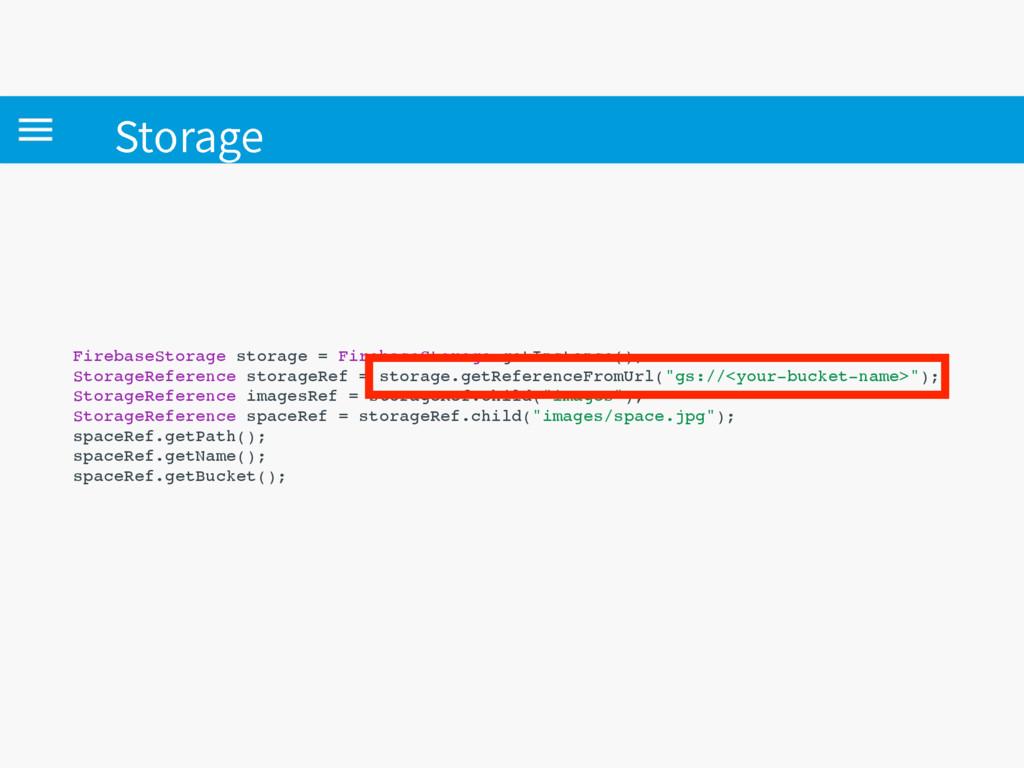 4UPSBHF FirebaseStorage storage = FirebaseStora...
