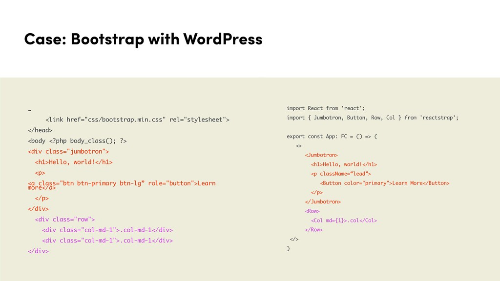 "Case: Bootstrap with WordPress … <link href=""cs..."