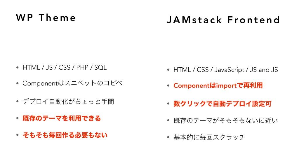 W P T h e m e • HTML / JS / CSS / PHP / SQL • C...