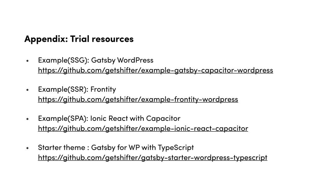 Appendix: Trial resources • Example(SSG): Gatsb...