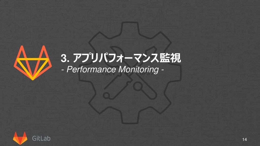 3. アプリパフォーマンス監視 14 - Performance Monitoring -