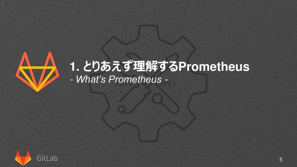 1. とりあえず理解するPrometheus 5 - What's Prometheus -