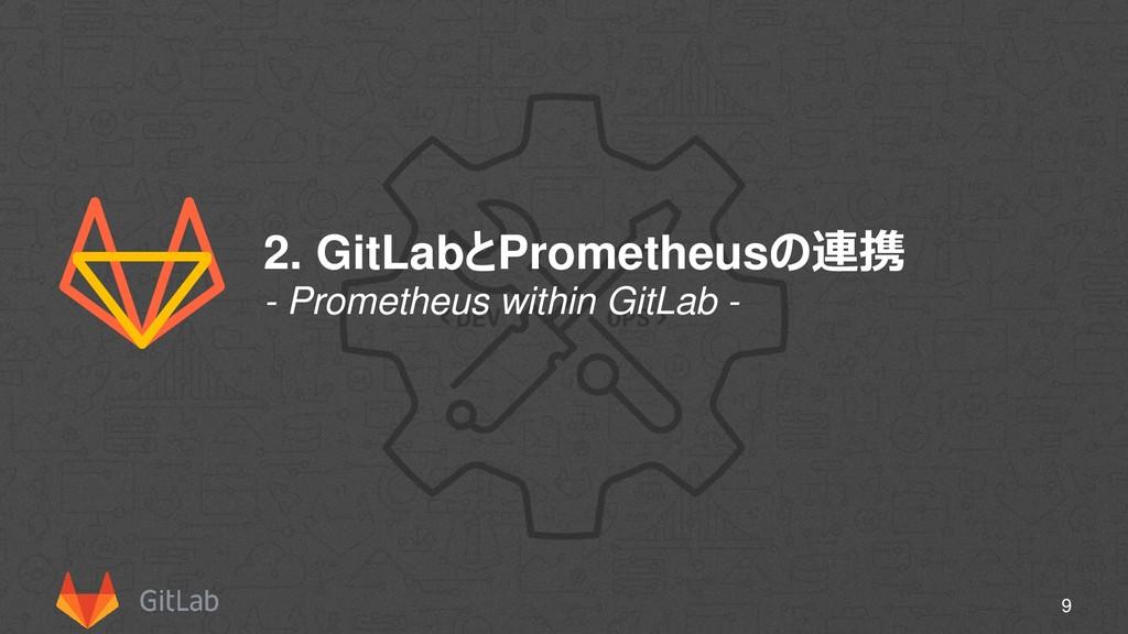 2. GitLabとPrometheusの連携 9 - Prometheus within G...