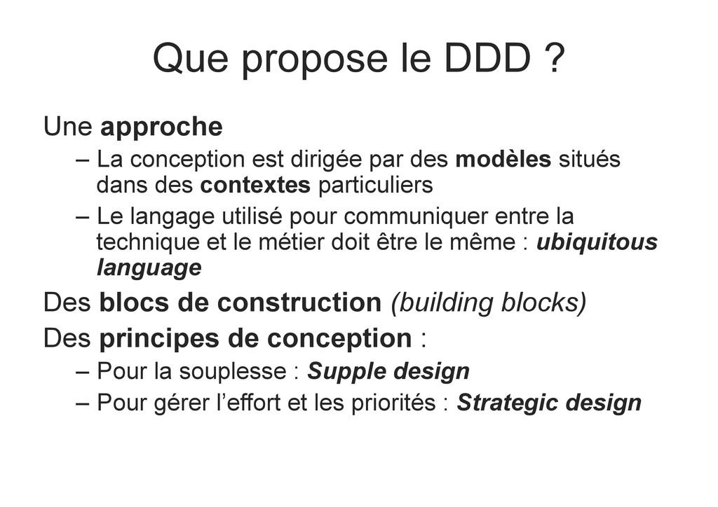 Que propose le DDD ? Une approche – La concept...