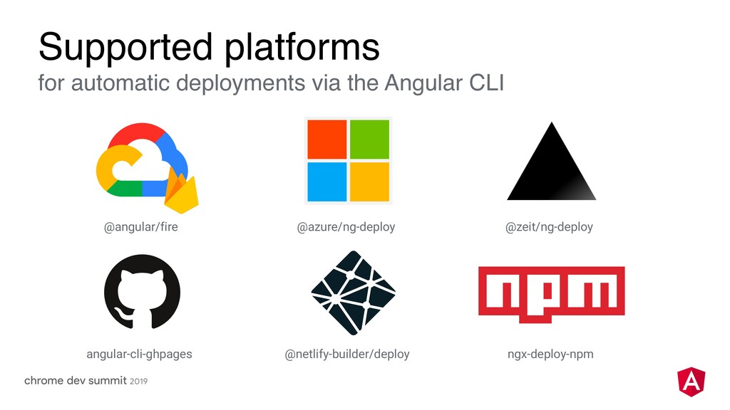 Supported platforms for automatic deployments v...