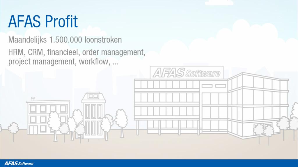 AFAS Profit Maandelijks 1.500.000 loonstroken H...