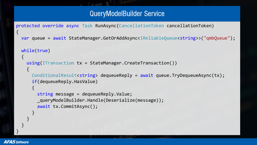 QueryModelBuilder Service protected override as...