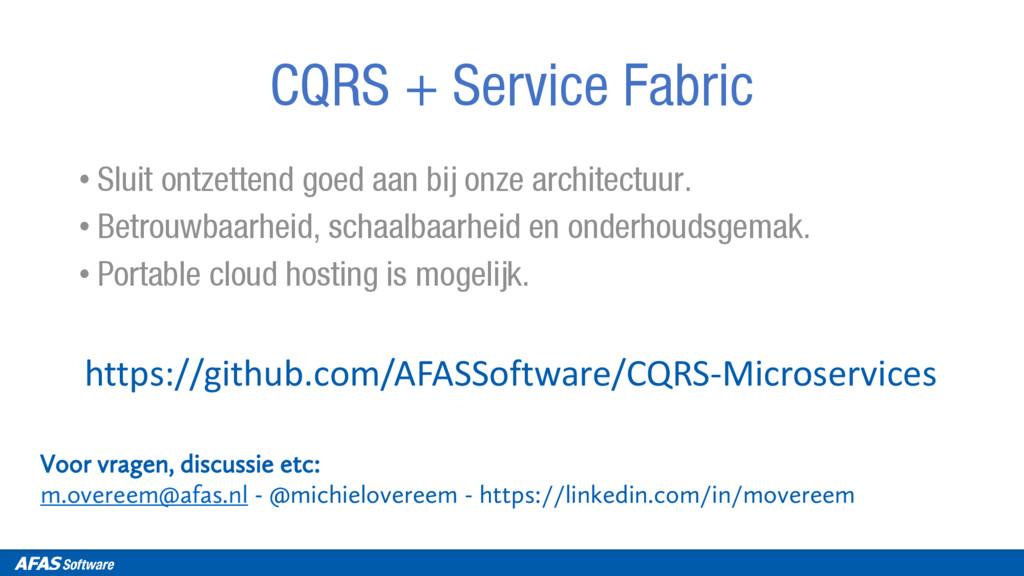 Voor vragen, discussie etc: m.overeem@afas.nl -...
