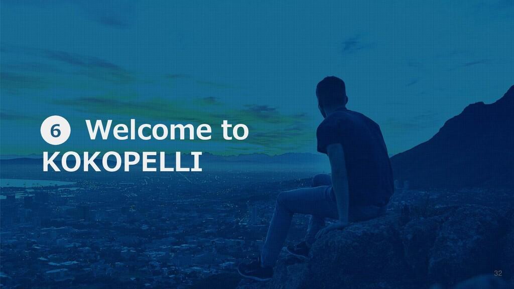 ⑥ Welcome to KOKOPELLI 6 32