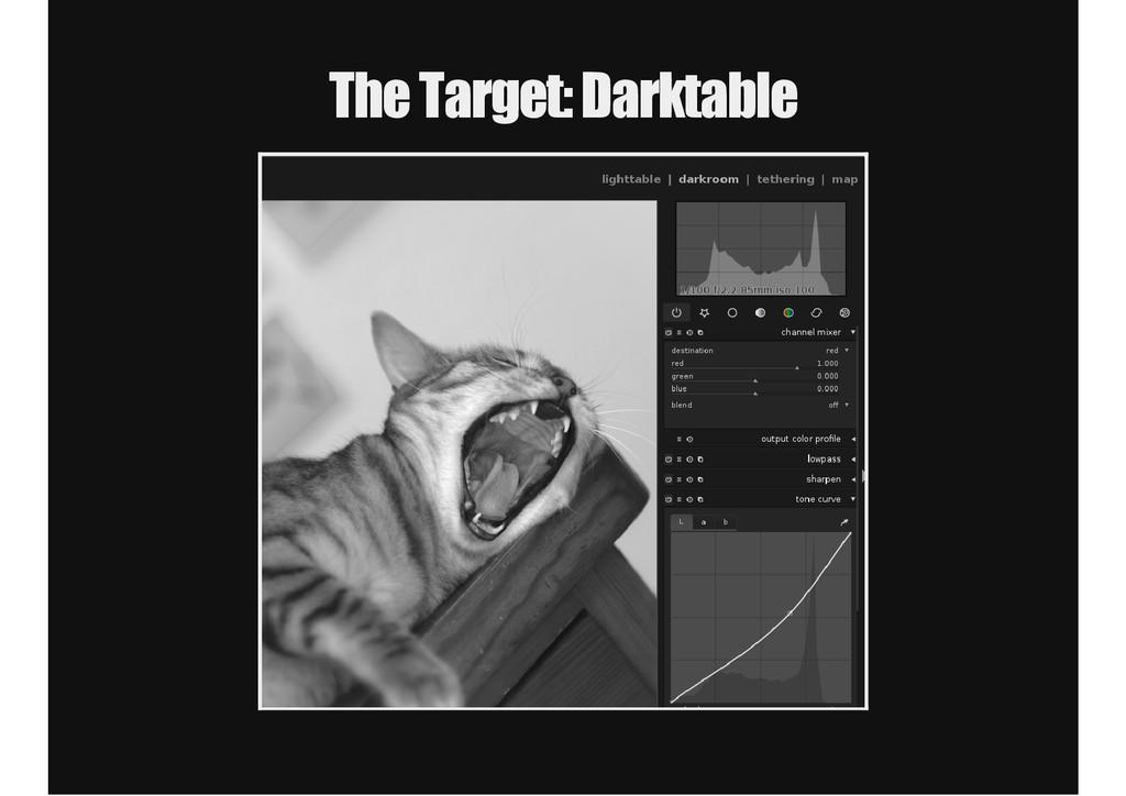 The Target: Darktable