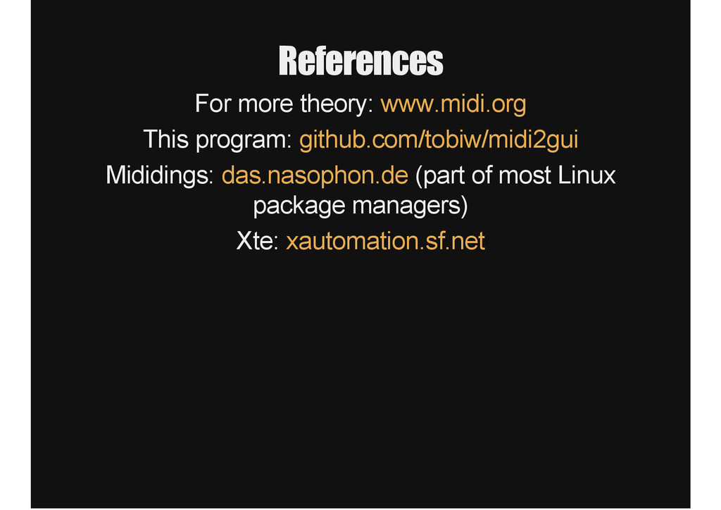 References For more theory: www.midi.org This p...