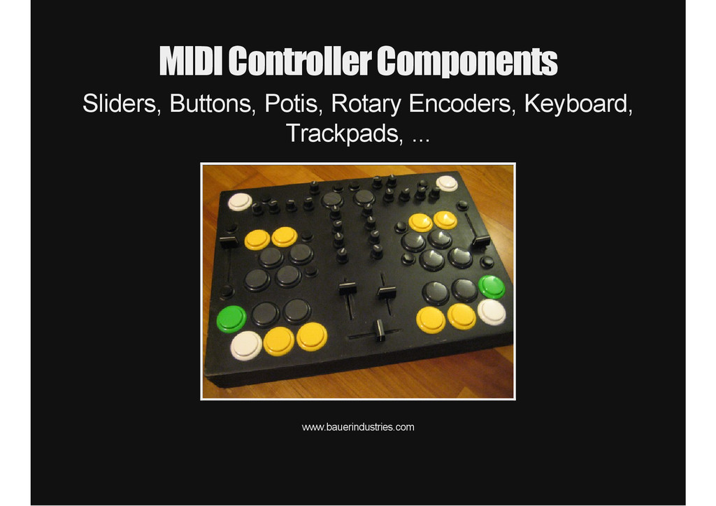 MIDI Controller Components Sliders, Buttons, Po...