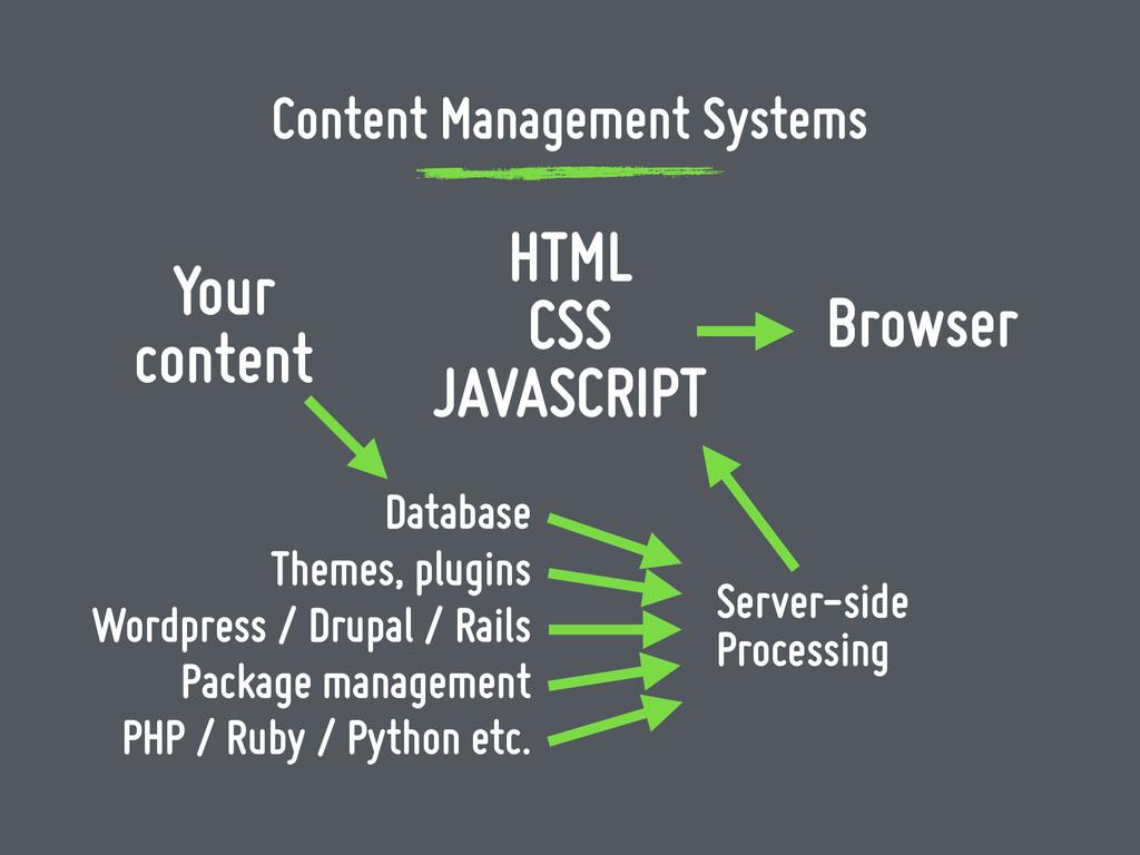 Database Wordpress / Drupal / Rails Package man...