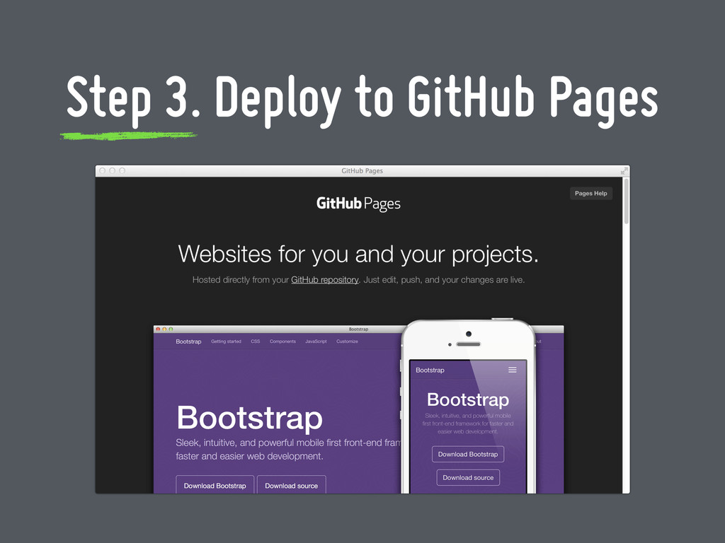 Step 3. Deploy to GitHub Pages