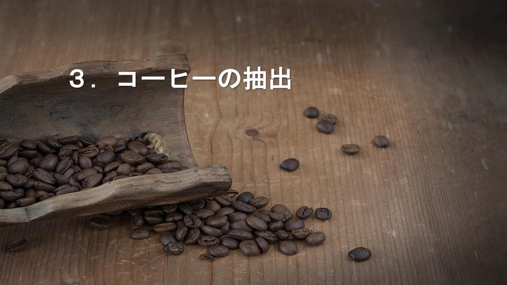 3.コーヒーの抽出