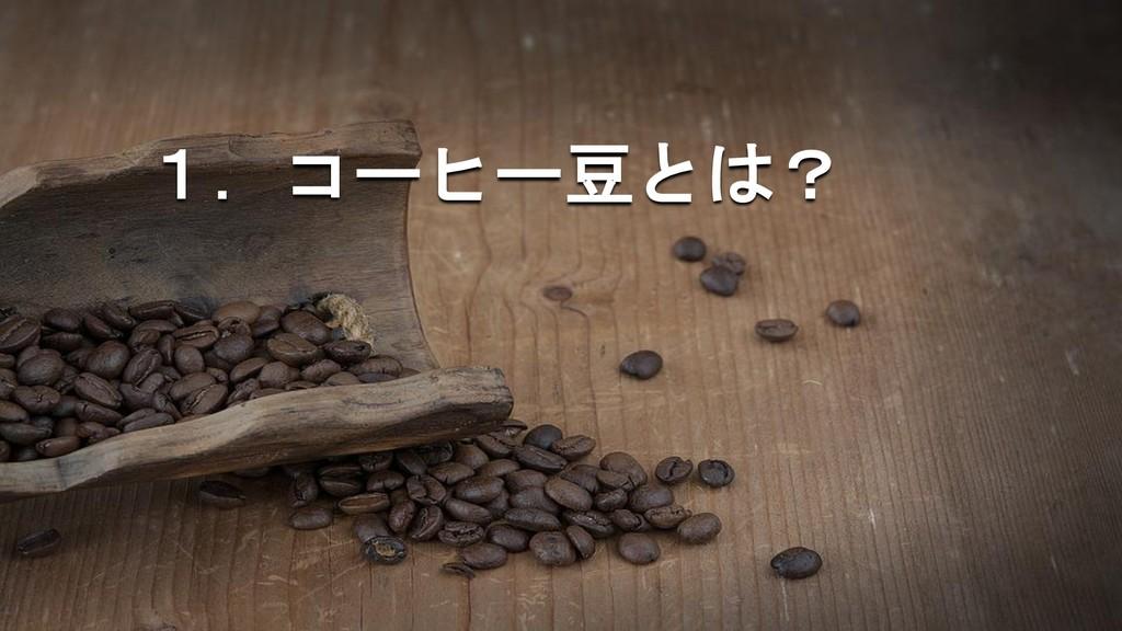 1.コーヒー豆とは?