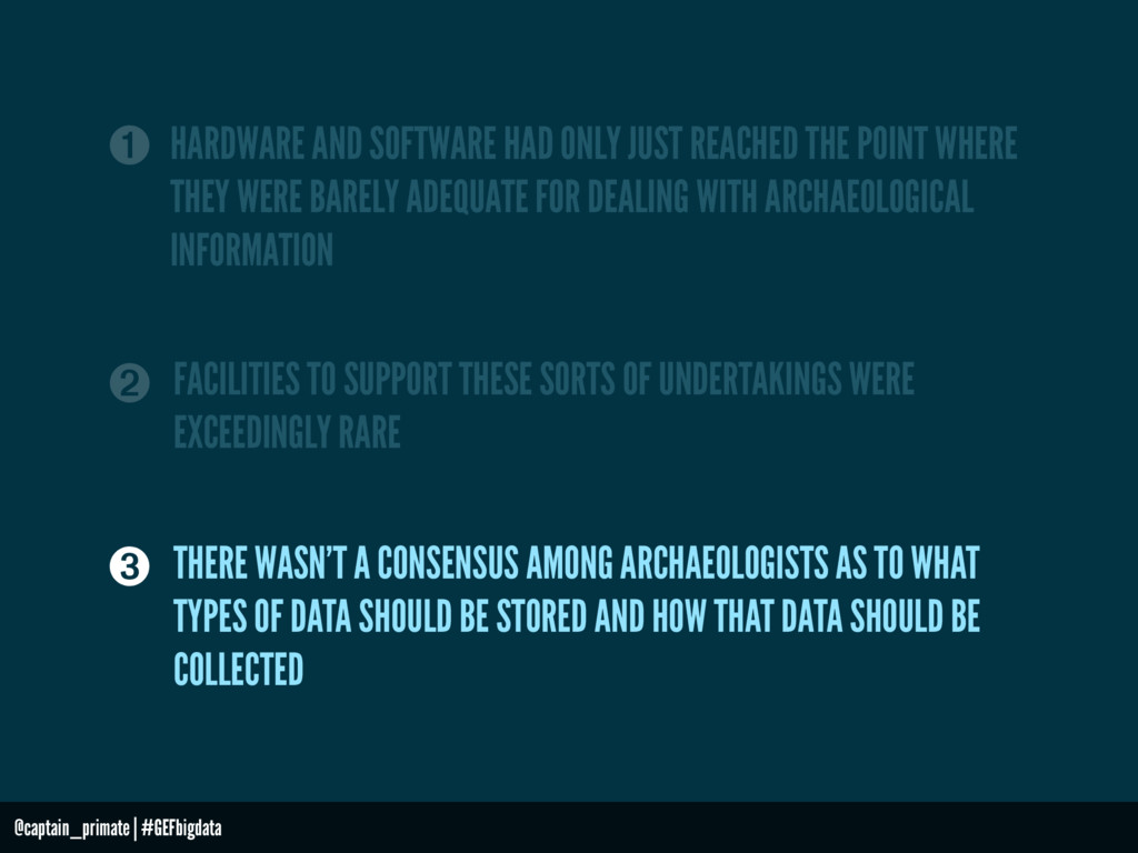 ➊ HARDWARE AND SOFTWARE HAD ONLY JUST REACHED T...