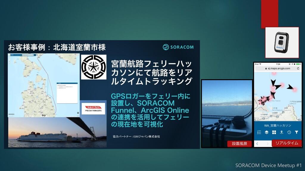 SORACOM Device Meetup #1 設置風景 リアルタイム