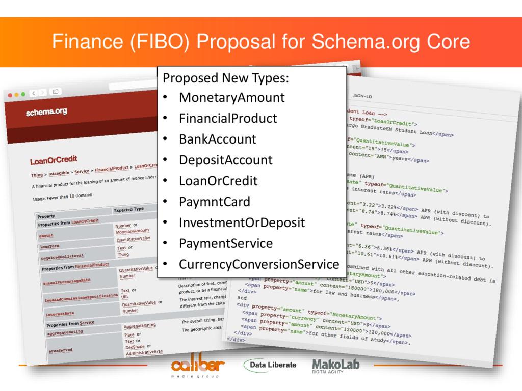 Finance (FIBO) Proposal for Schema.org Core Pro...
