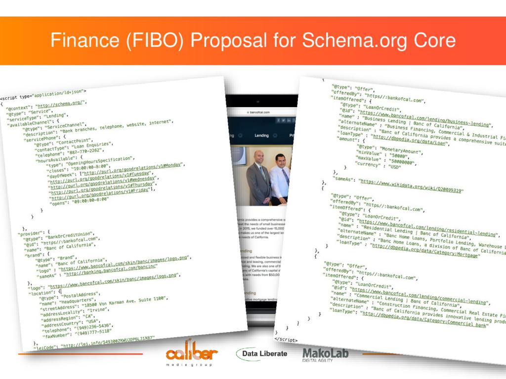 Finance (FIBO) Proposal for Schema.org Core