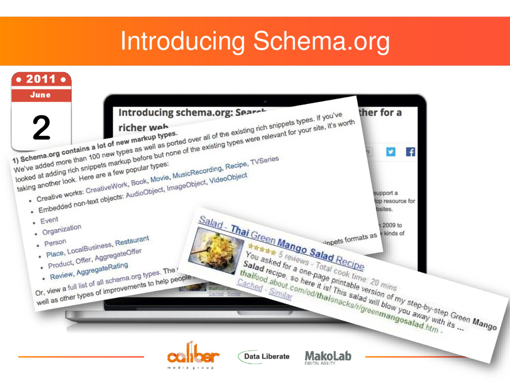 Introducing Schema.org 2 ● 2011 ● June