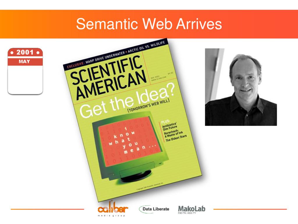 Semantic Web Arrives ● 2001 ● MAY