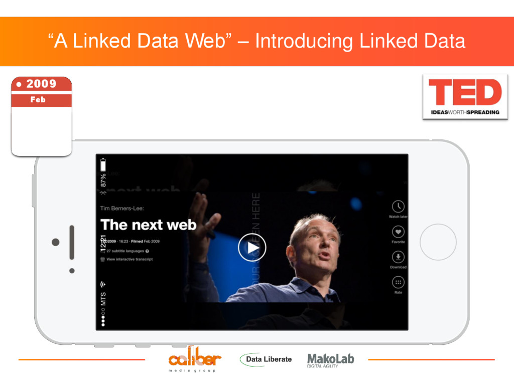 """""""A Linked Data Web"""" – Introducing Linked Data ●..."""