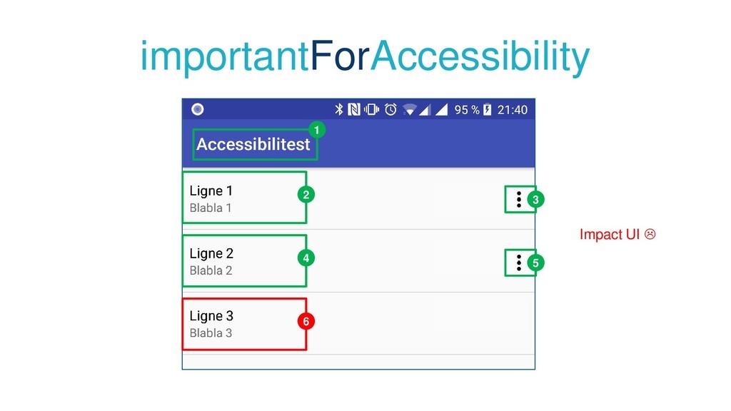 importantForAccessibility 1 2 4 6 3 5 Impact UI...