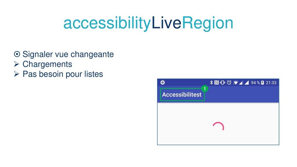 accessibilityLiveRegion  Signaler vue changean...