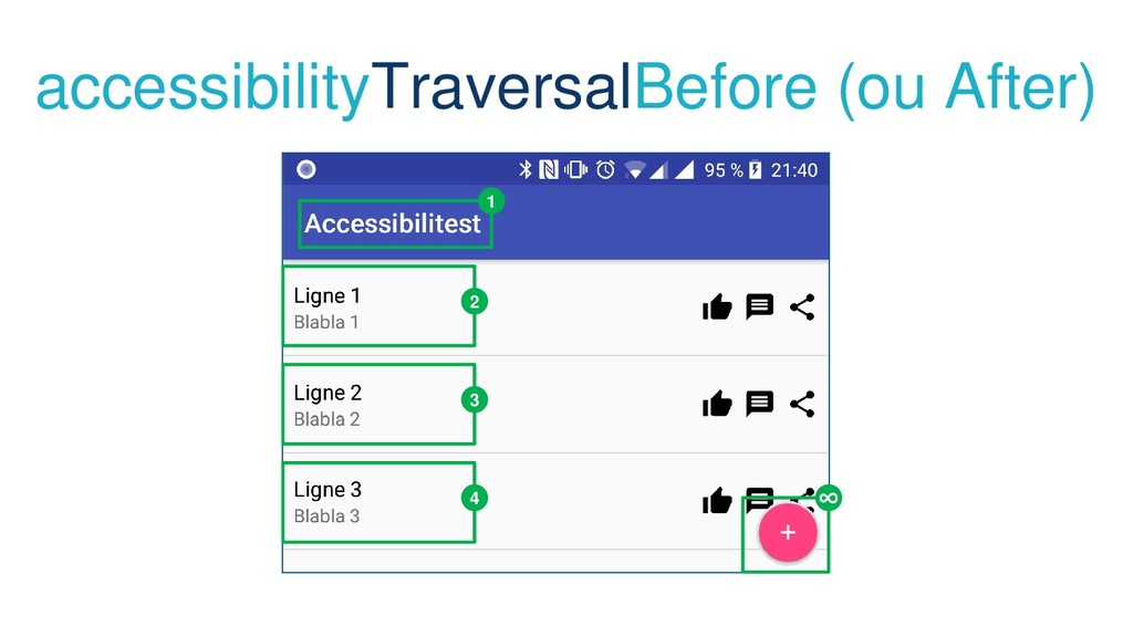 accessibilityTraversalBefore (ou After) 1 2 3 4...