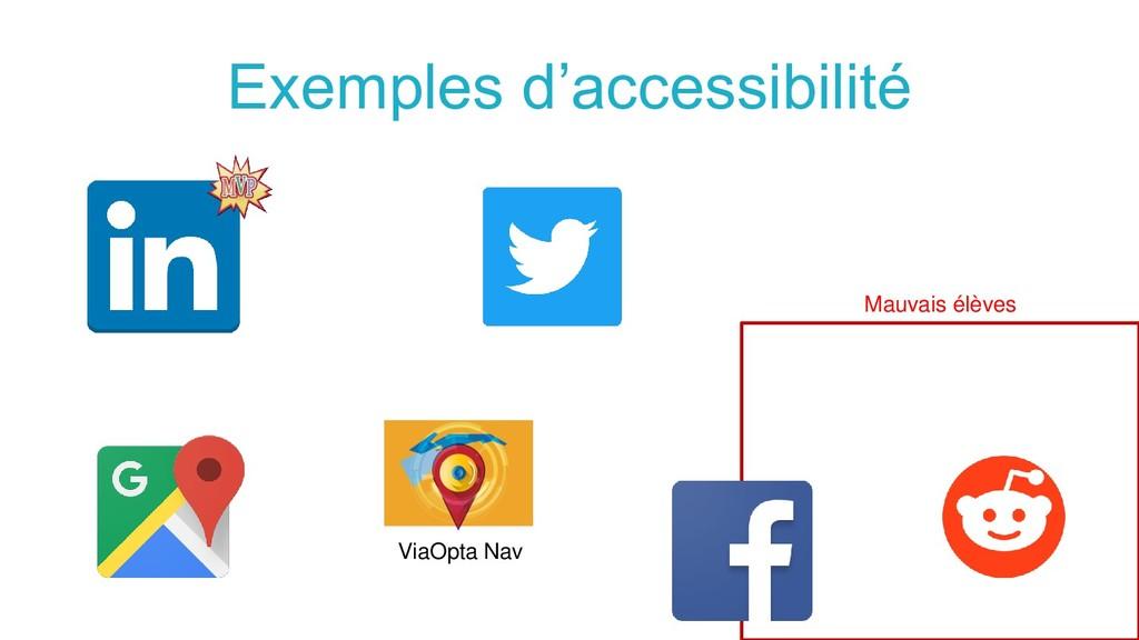 Exemples d'accessibilité Mauvais élèves ViaOpta...