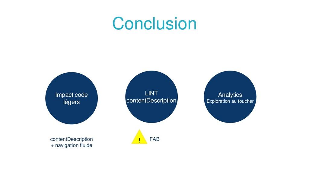 Conclusion Impact code légers Analytics Explora...