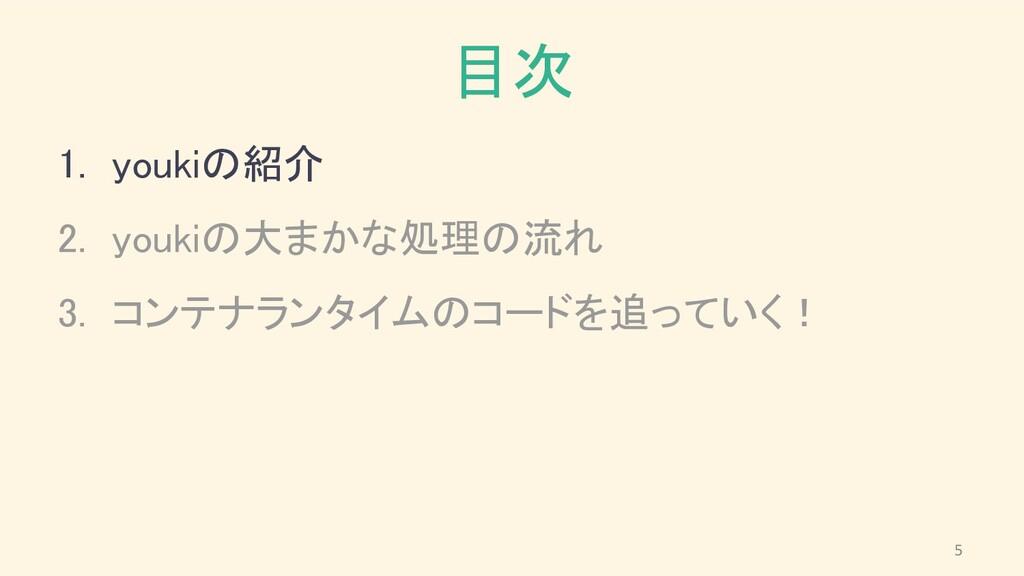 目次 1. youkiの紹介 2. youkiの大まかな処理の流れ 3. コンテナランタ...