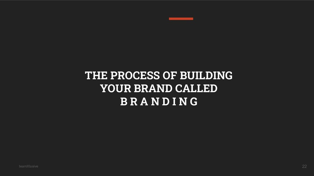 teamXlusive 22 THE PROCESS OF BUILDING YOUR BRA...
