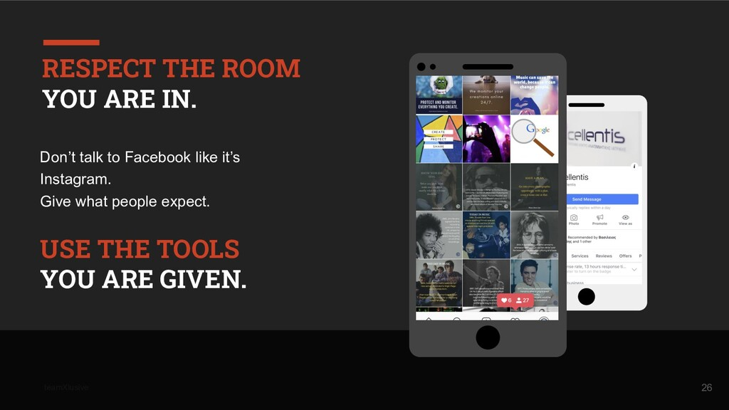 teamXlusive Don't talk to Facebook like it's In...