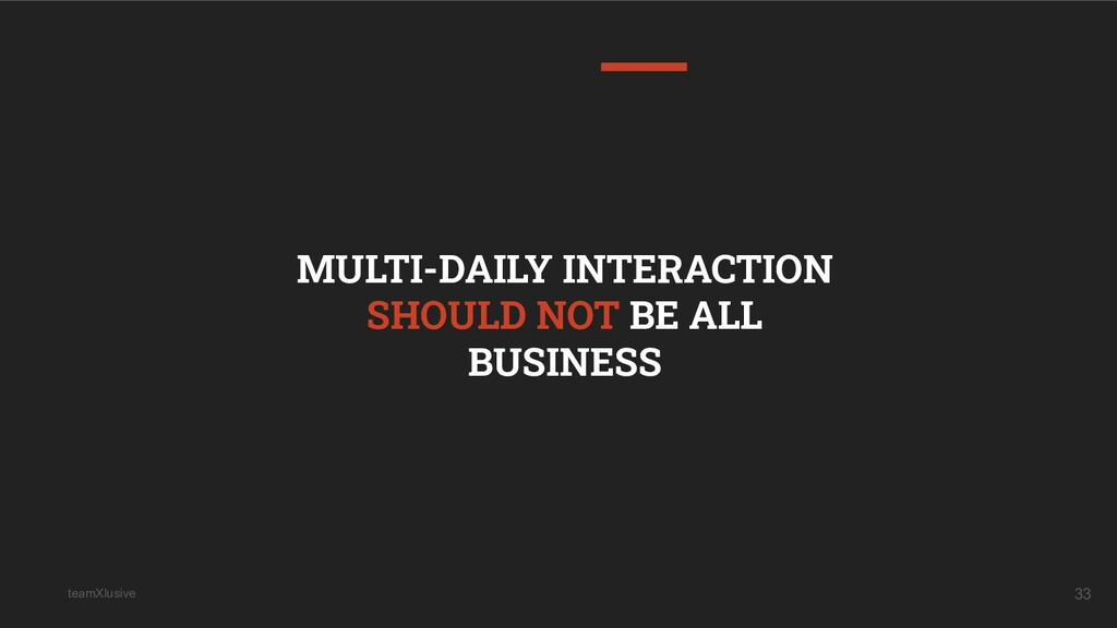 teamXlusive 33 MULTI-DAILY INTERACTION SHOULD N...