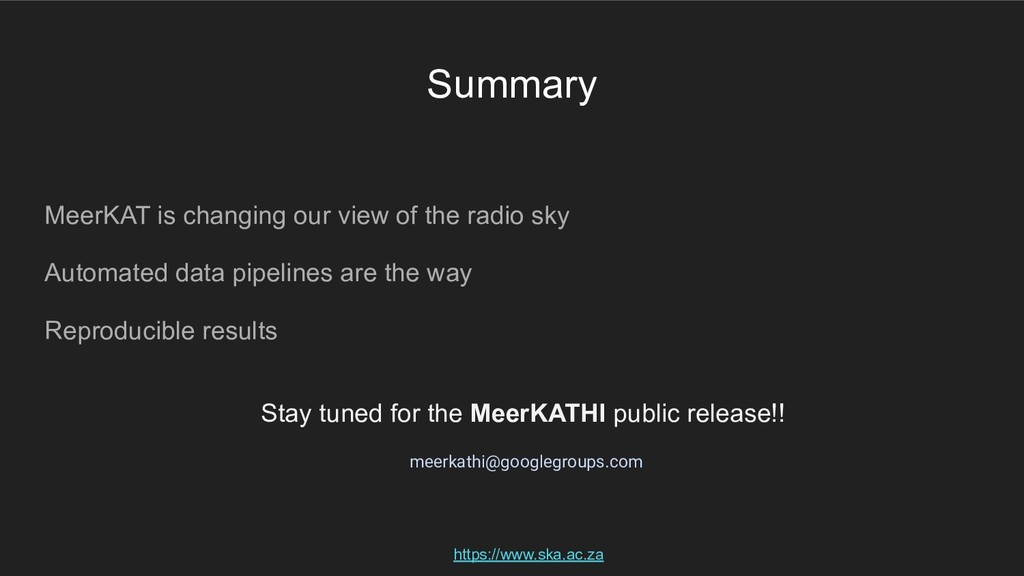 Summary MeerKAT is changing our view of the rad...