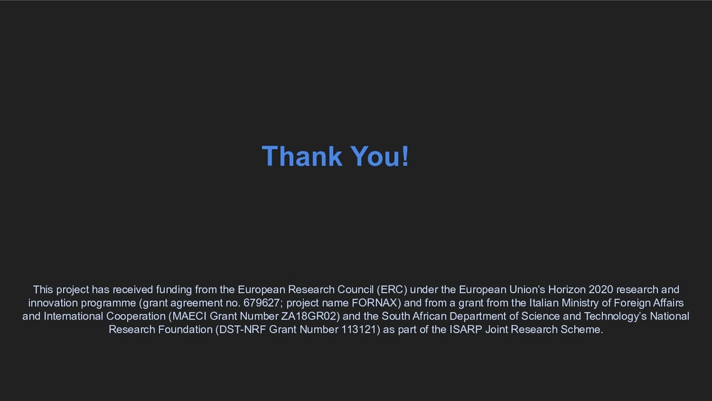 Thank You! This project has received funding fr...