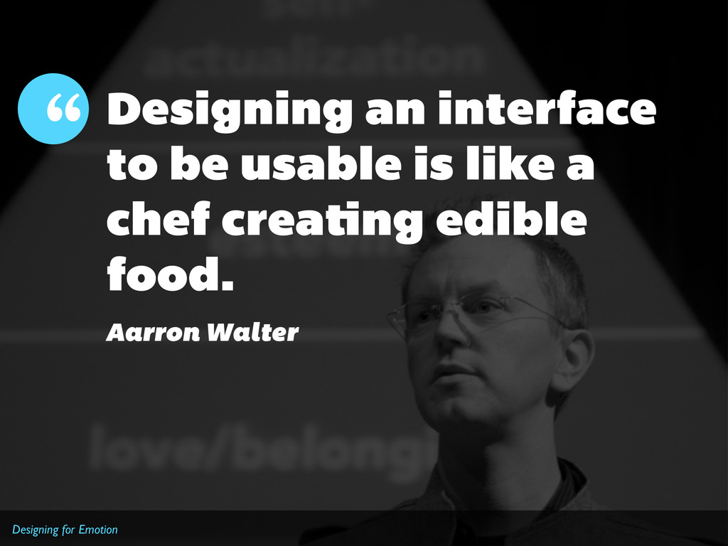 Designing for Emotion Designing an interface to...