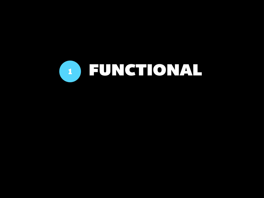 FUNCTIONAL 1