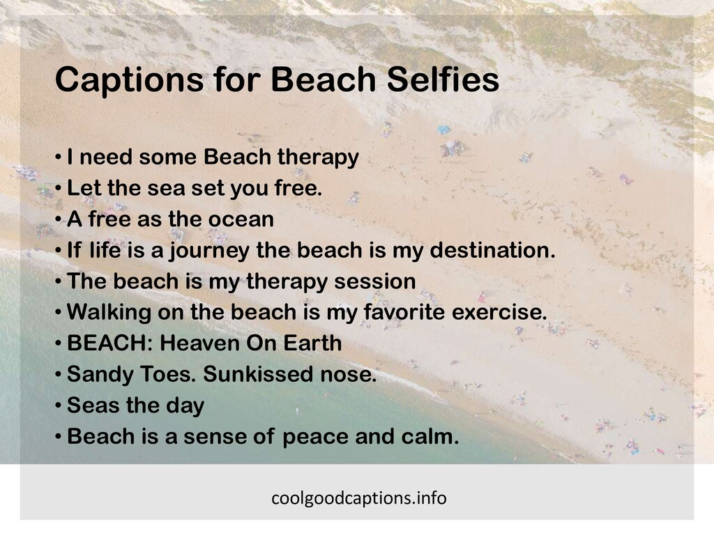 Captions for Beach Selfies • I need some Beach ...