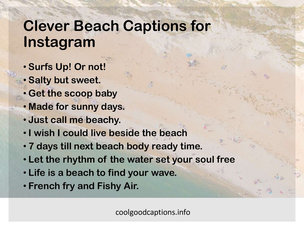 Clever Beach Captions for Instagram • Surfs Up!...