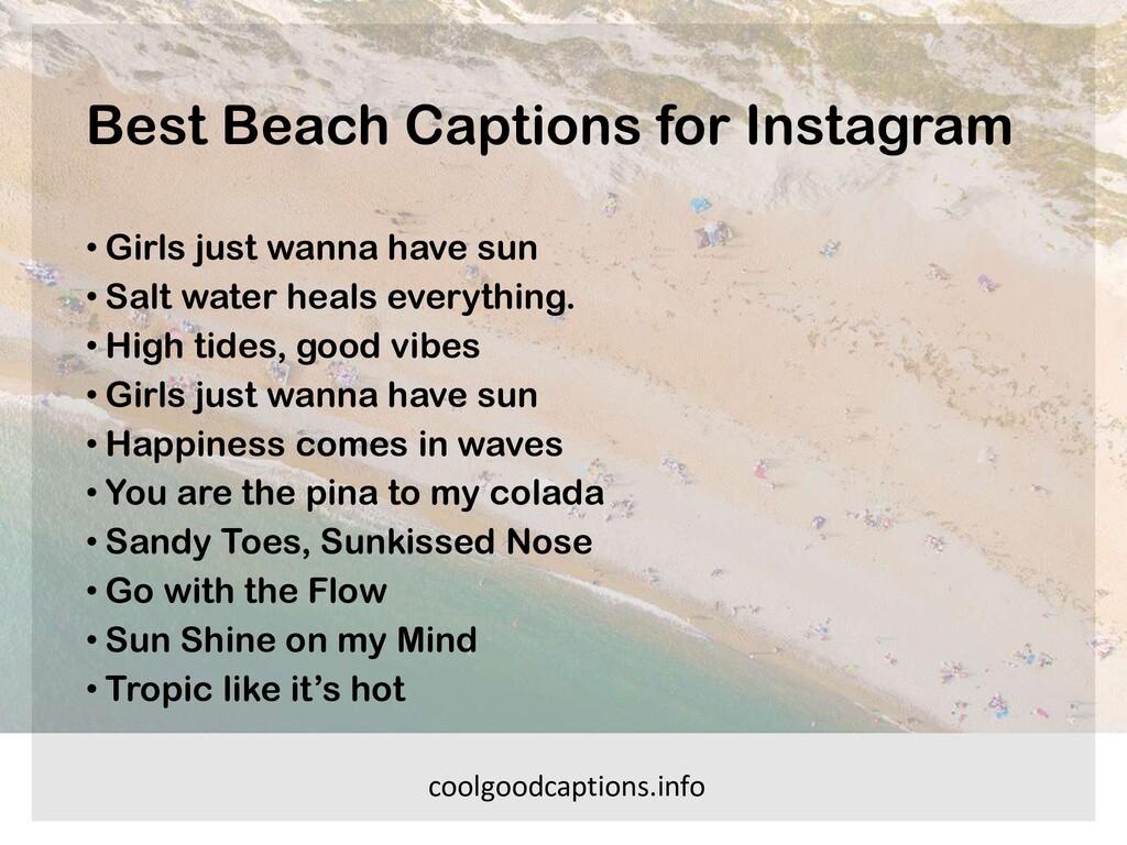 Best Beach Captions for Instagram • Girls just ...