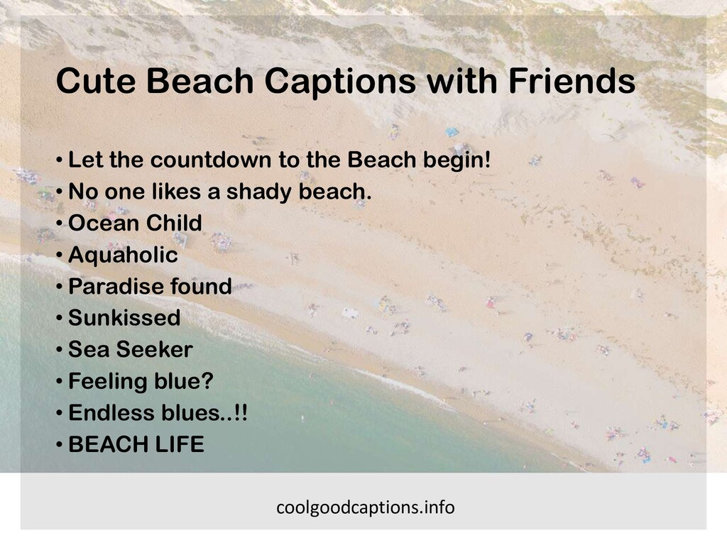 Cute Beach Captions with Friends • Let the coun...