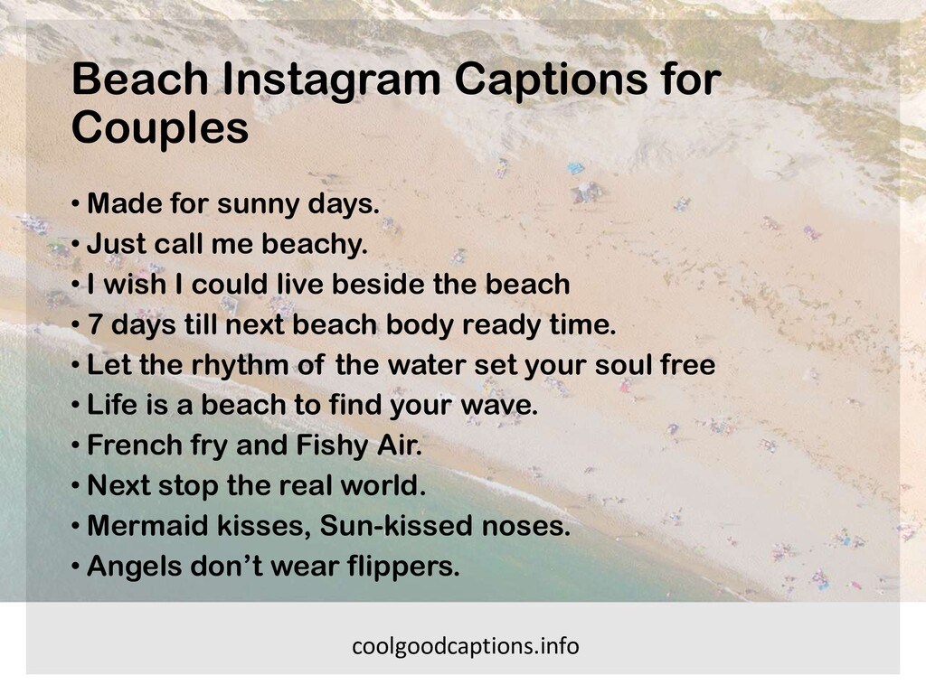 Beach Instagram Captions for Couples • Made for...
