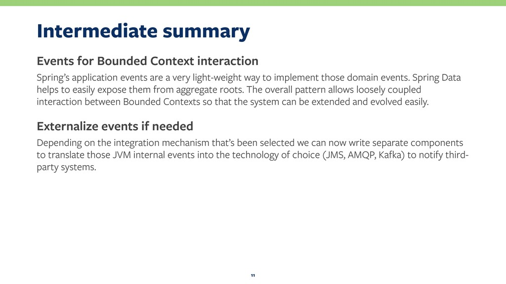 Intermediate summary Events for Bounded Context...