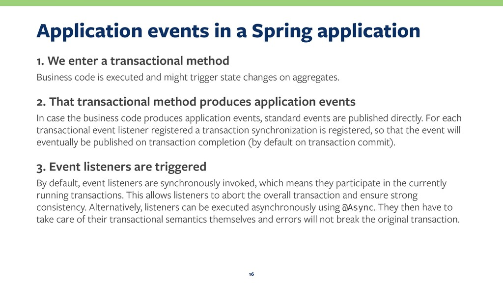 Application events in a Spring application 1. W...
